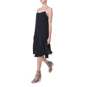 Tibi 100% Silk Tie-Back Cami Dress in Black. NWOT